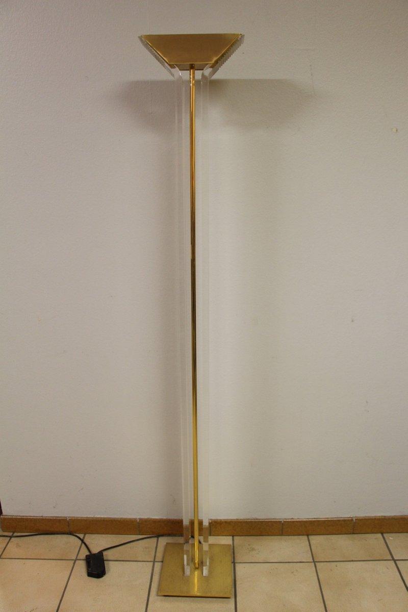 Stehlampe aus Plexiglas, 1980er