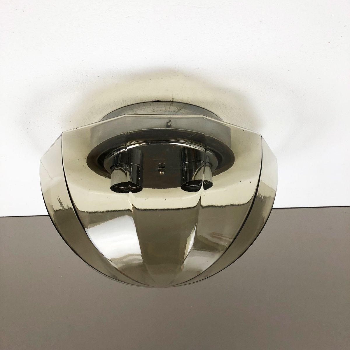 Runde Wandlampe von Glashütte Limburg, 1960er
