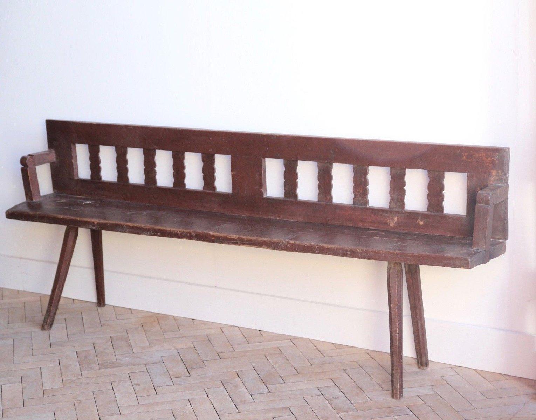 Transsylvanische Vintage Gartenbank aus Holz