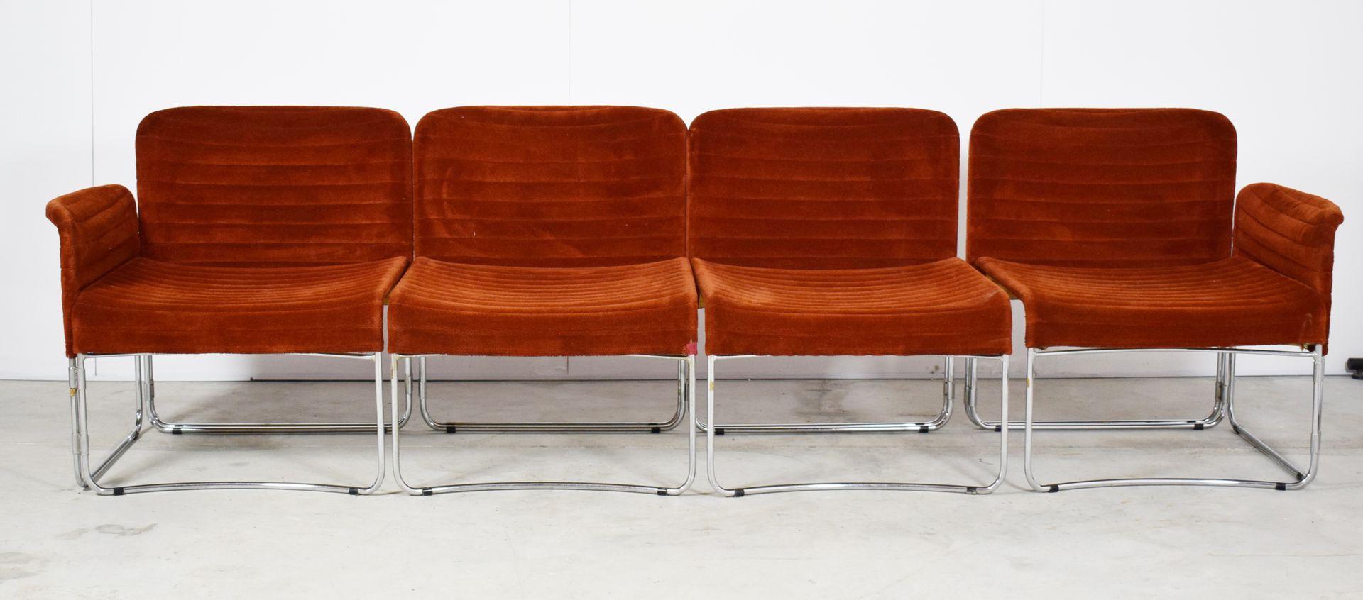 Modulare italienische Vintage Sitzmöbel, 4er Set