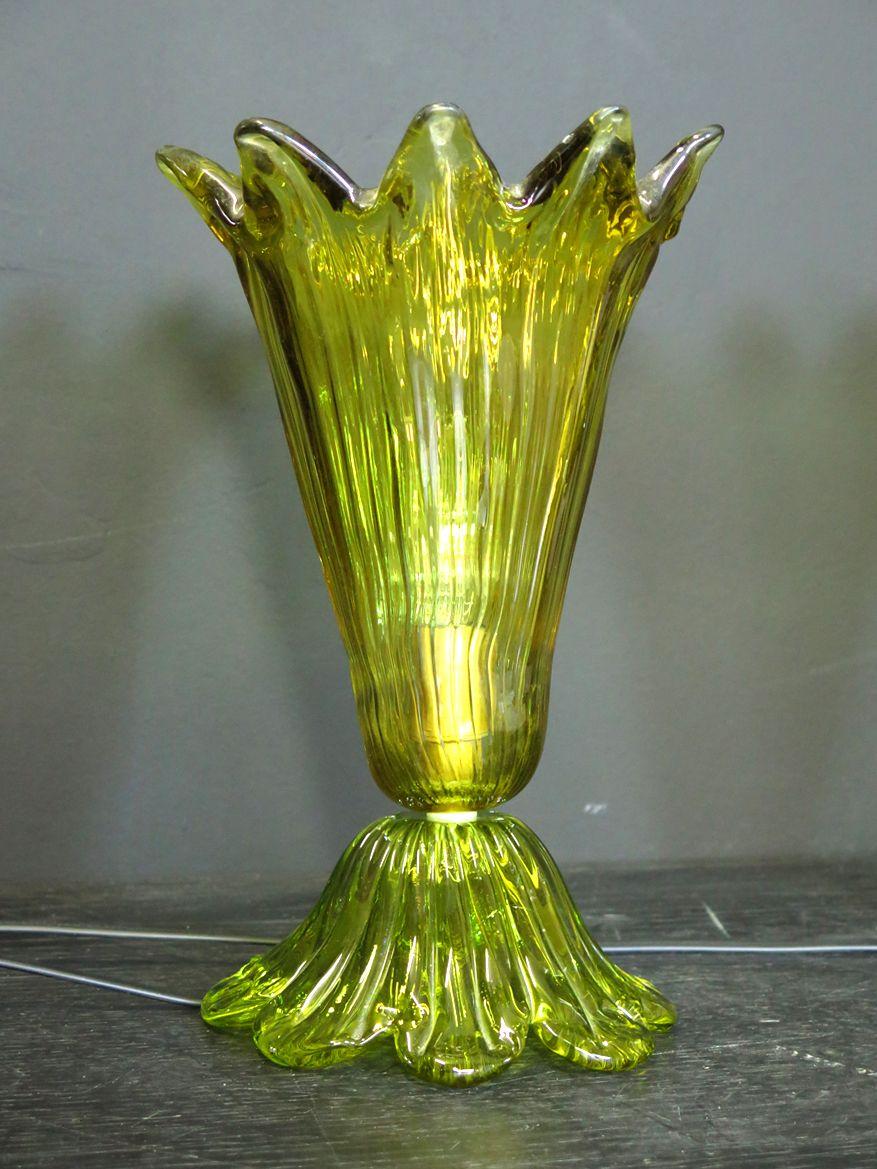 Italienische Tischlampen von Mazzega, 1985, 2er Set