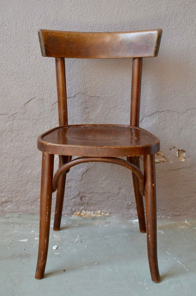 Vintage French Bistro Chairs Set Of 6