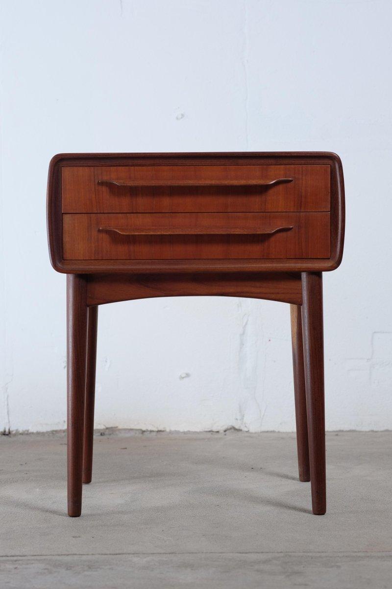Nachttisch aus Teak von Johannes Andersen für CFC Silkeborg, 1960er
