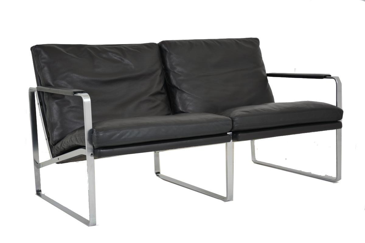 2-Sitzer Sofa von Jorgen Kastholm und Preben Fabricius für Walter Knol...