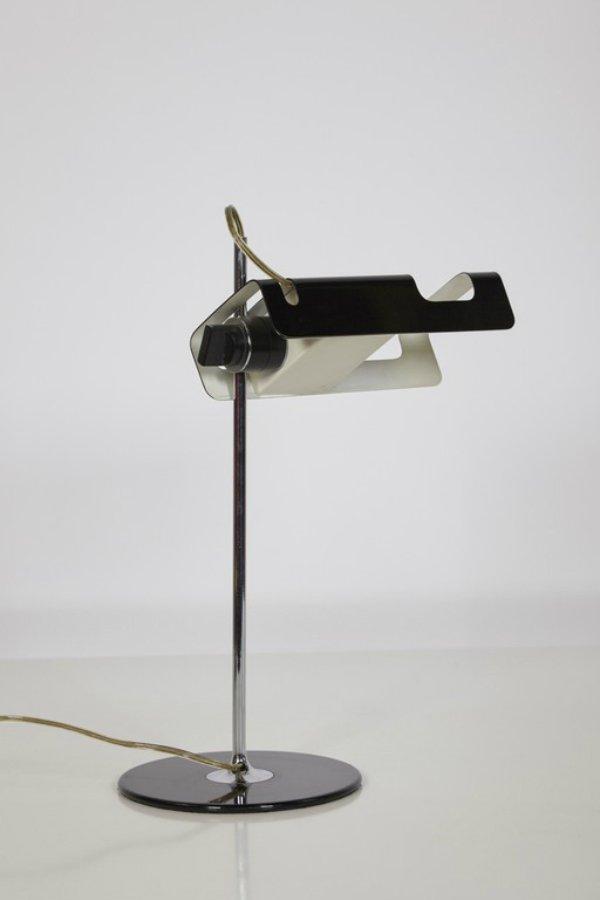 Schwarze Spider 291 Schreibtischlampe von Joe Colombo für Oluce, 1960e...
