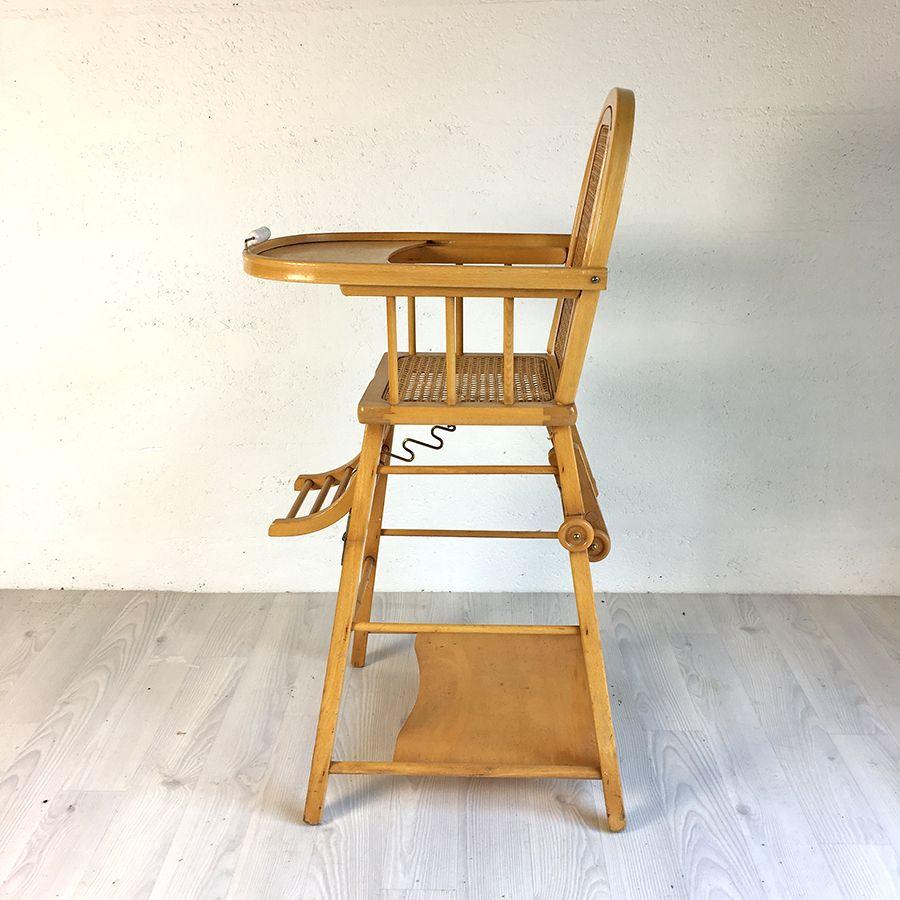 Vintage kinderstuhl aus holz geflecht bei pamono kaufen - Kinderstuhl vintage ...
