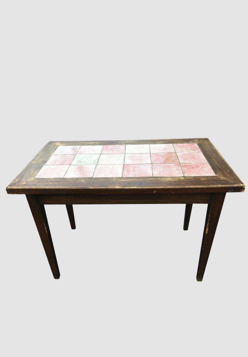 Art Deco Bistro Tisch aus Keramik von Cazaux