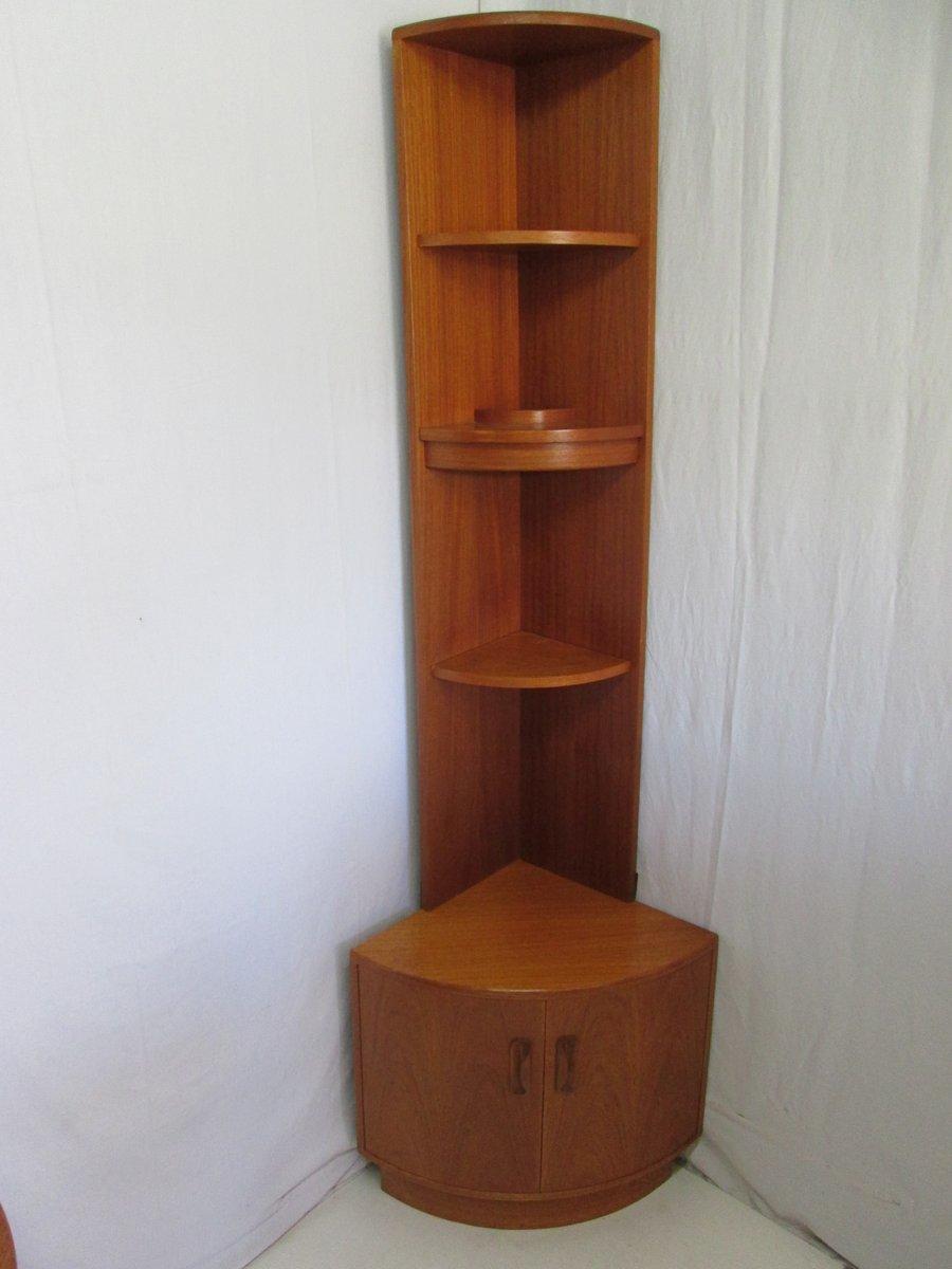 Librerie ad angolo vintage in teak, set di 2 in vendita su Pamono