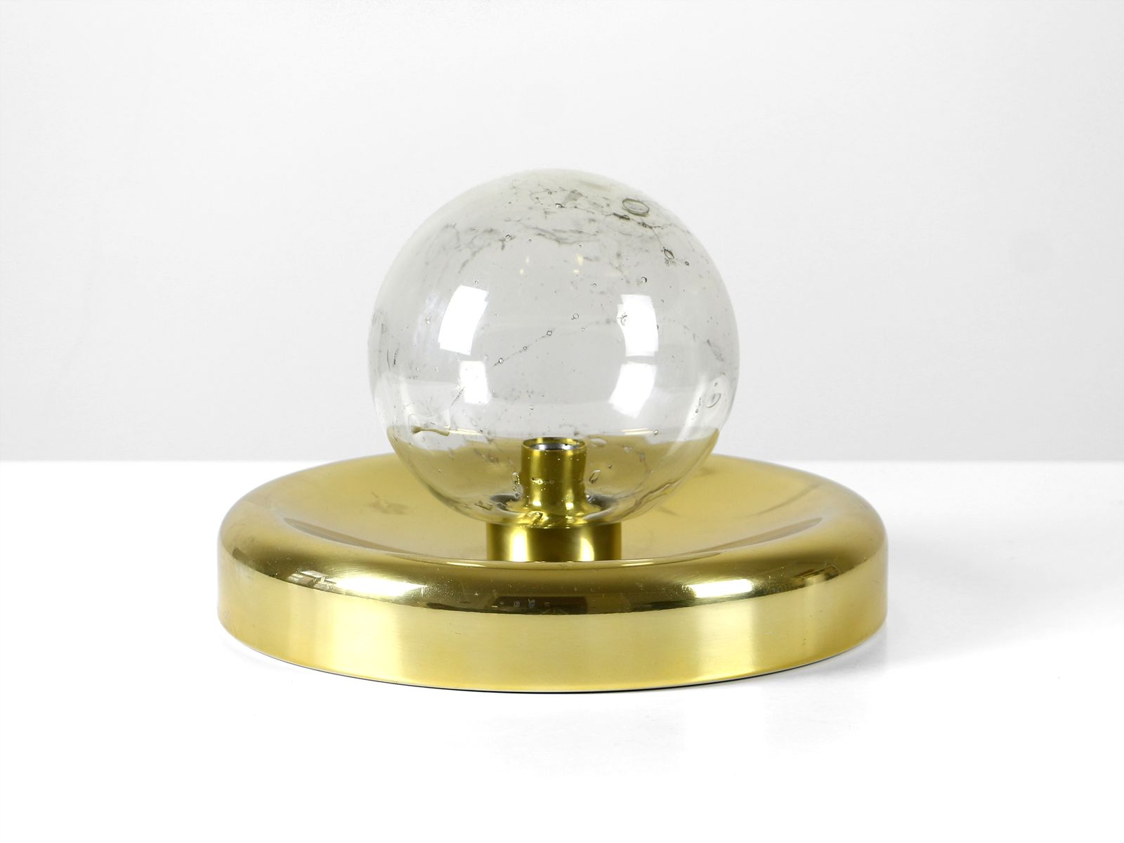Tischlampe aus Sideglas und Messing von Doria Leuchten, 1960er