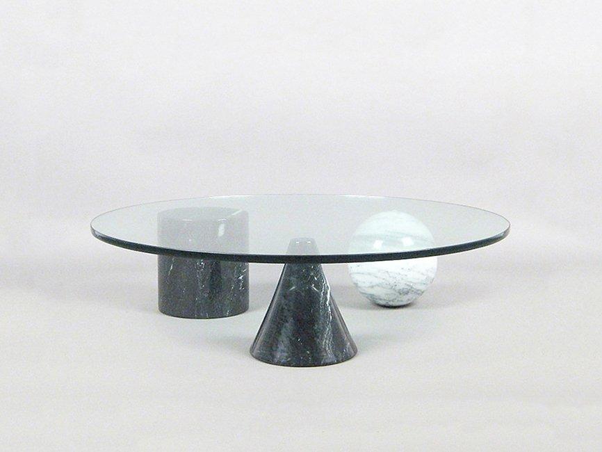 Runder Metafora Couchtisch aus Marmor & Glas von Massimo & Lella Vigne...
