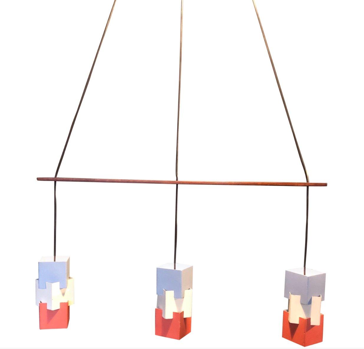 Kubus Lampe von Johannes Hammerborg für Fog & Morup, 1961
