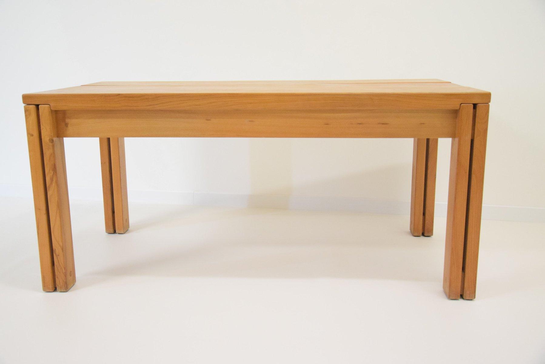 Vintage Esstisch aus massivem Ulmenholz von Regain