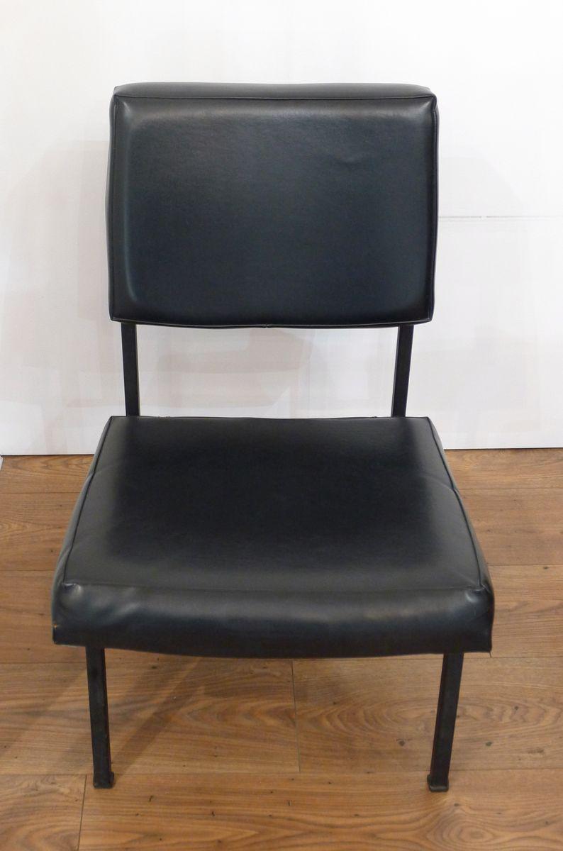 Sessel aus Metall & Kunstleder, 1960er