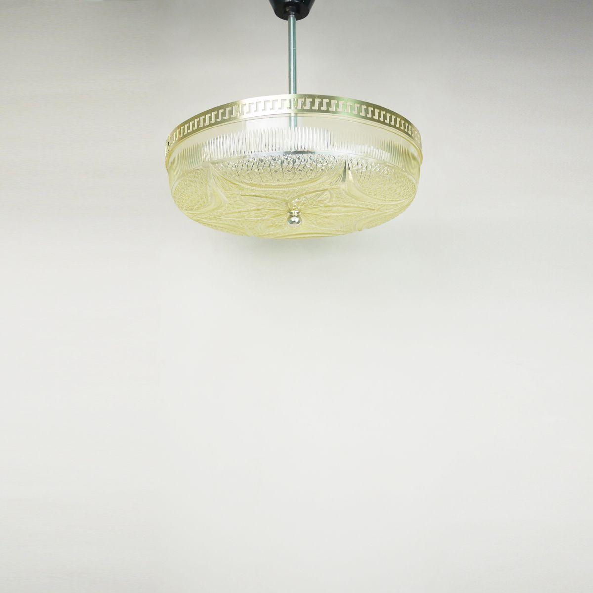 Hängelampe aus Acrylglas in Kristall-Optik, 1970er