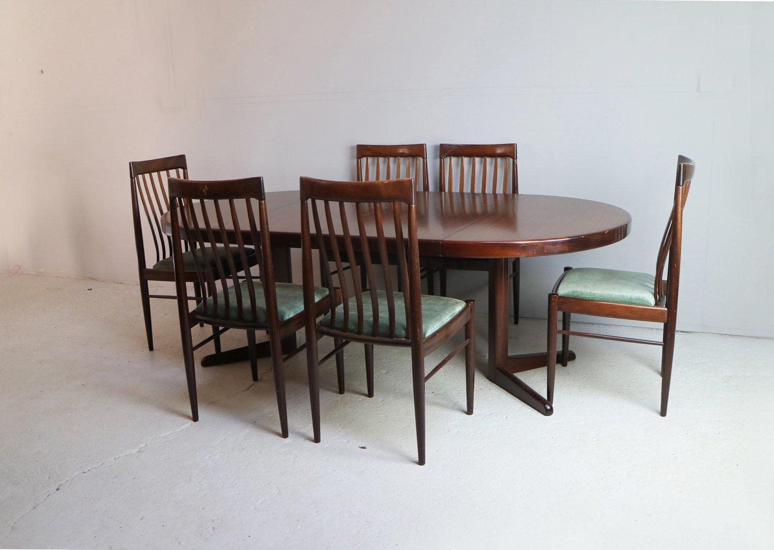 Danischer Mid Century Esstisch Und 6 Stuhle Von H W Klein Fur Bramin