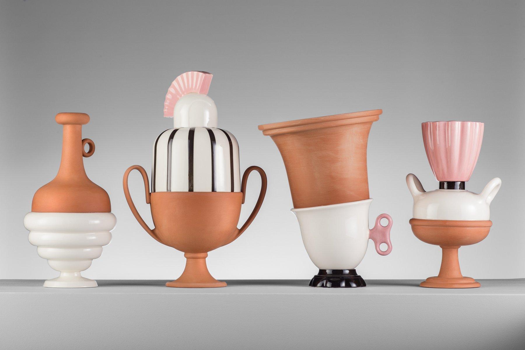 mini 03 hybrid vase in hellem pink schwarz wei von tal batit bei pamono kaufen. Black Bedroom Furniture Sets. Home Design Ideas