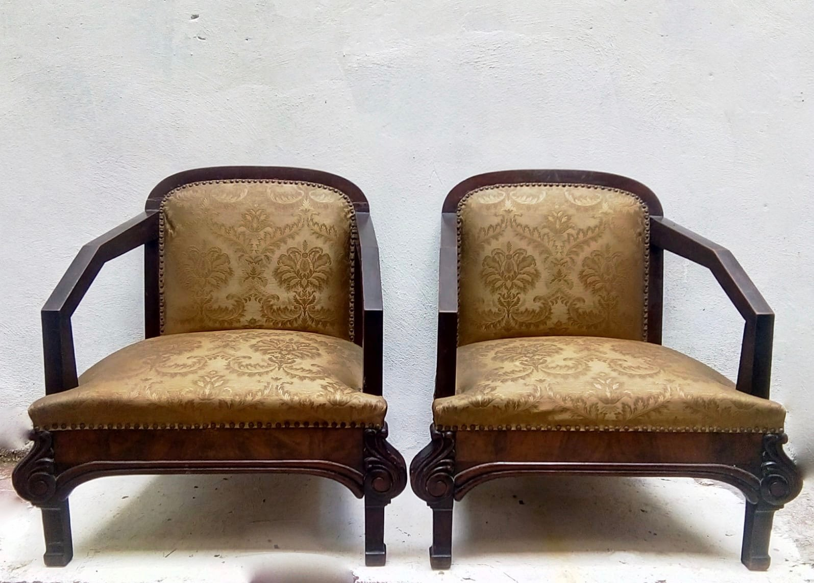 fauteuil art deco 1930s set de 2 en vente sur pamono. Black Bedroom Furniture Sets. Home Design Ideas
