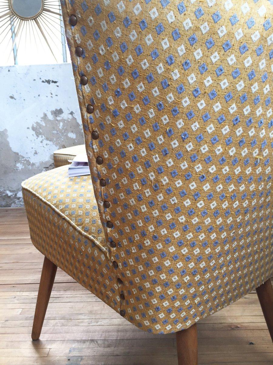 gelbe cocktail st hle 1950er 2er set bei pamono kaufen. Black Bedroom Furniture Sets. Home Design Ideas