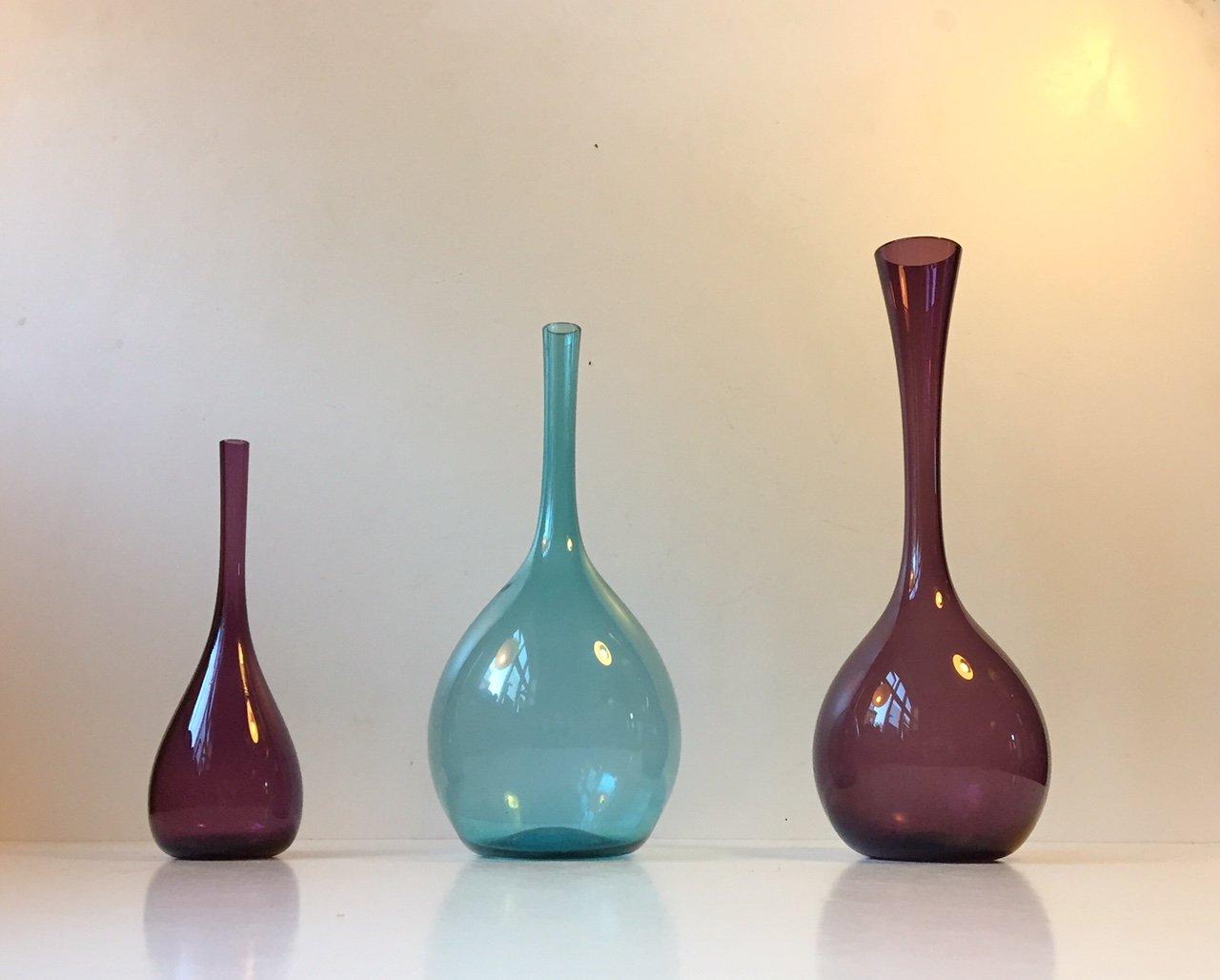 Moderne schwedische glasvasen von arthur percy f r - Moderne glasvasen ...