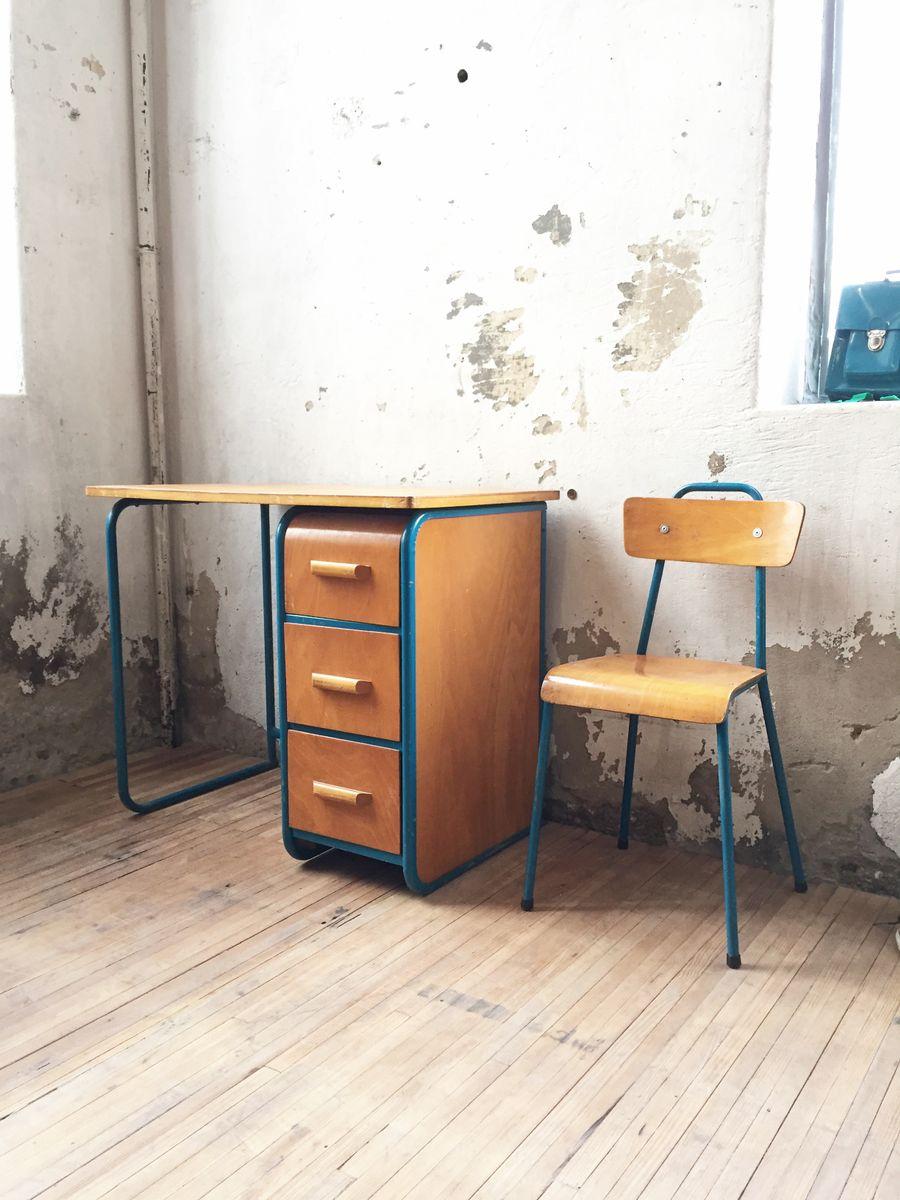 franz sischer vintage kinderschreibtisch und stuhl bei pamono kaufen. Black Bedroom Furniture Sets. Home Design Ideas