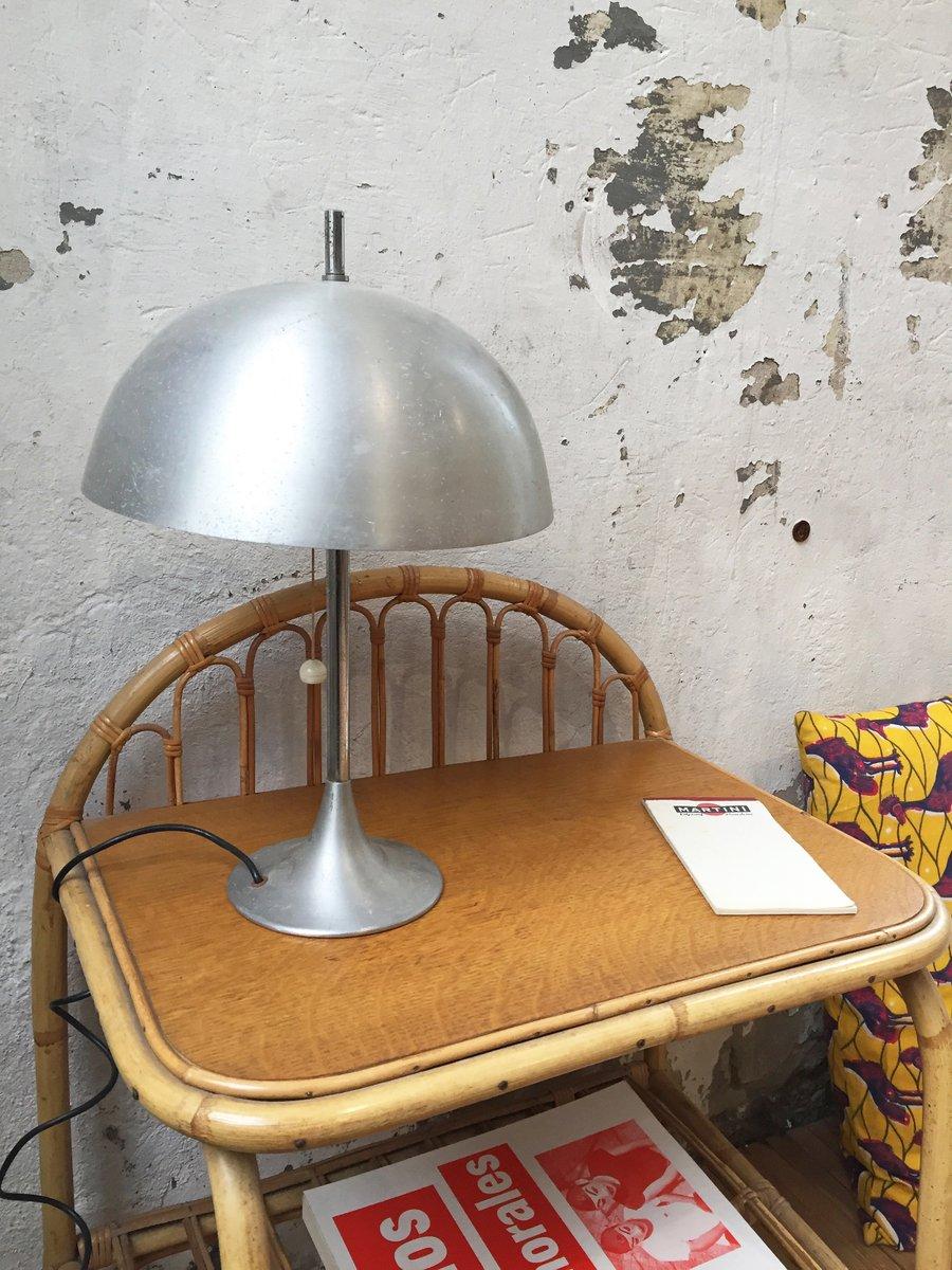 Vintage Lampe in Pilz-Optik aus Aluminium von Disderot