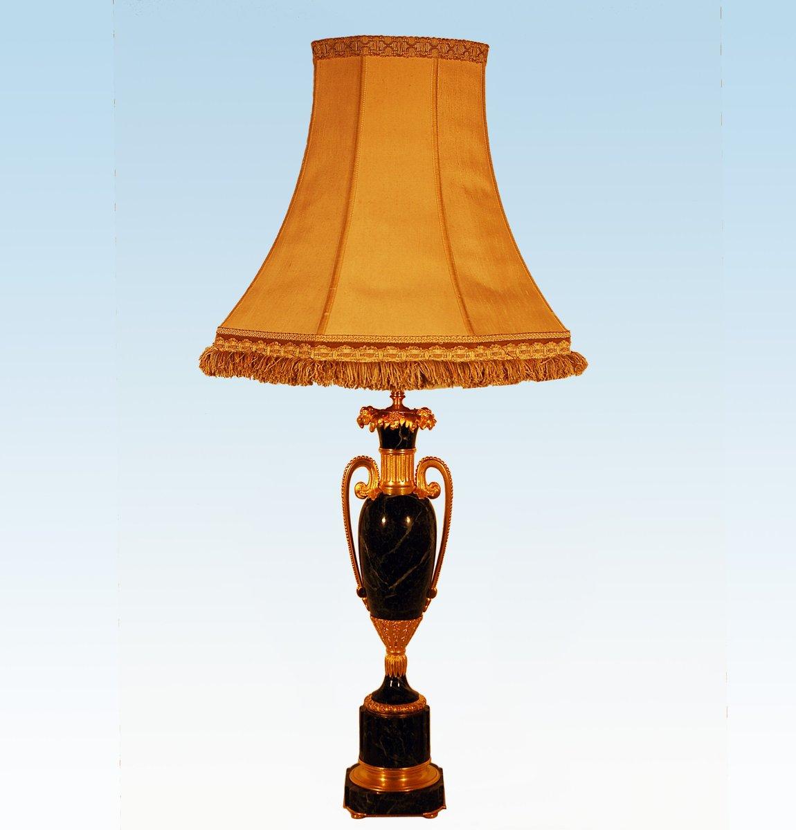 Vintage Tischlampe aus Marmor & vergoldeter Bronze von Maison Jansen
