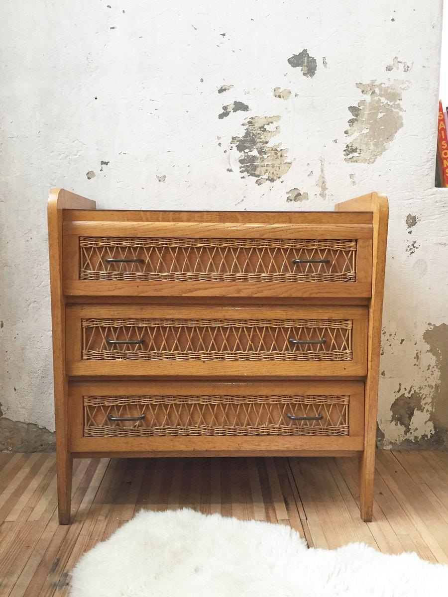 Vintage Kommode aus Rattan