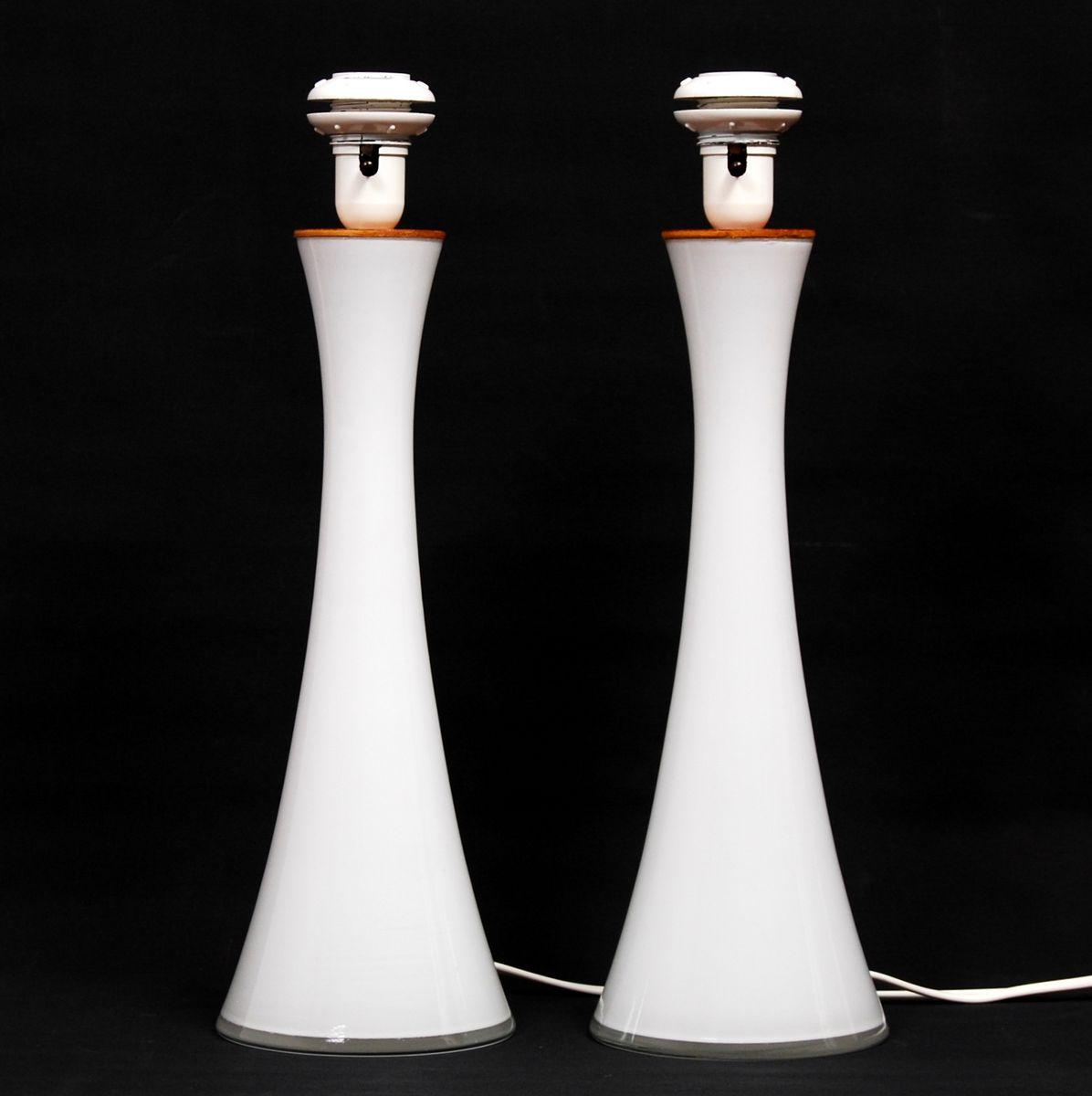 Vintage tischlampen aus opalglas von berndt nordstedt f r for Tischlampen vintage