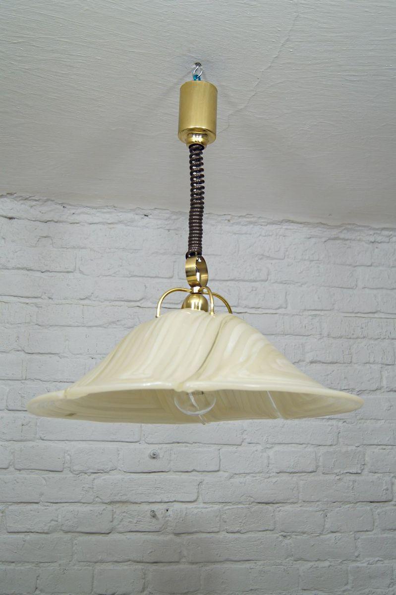 Vintage Deckenlampe aus Messing & Acrylglas von Cosack, 1970er