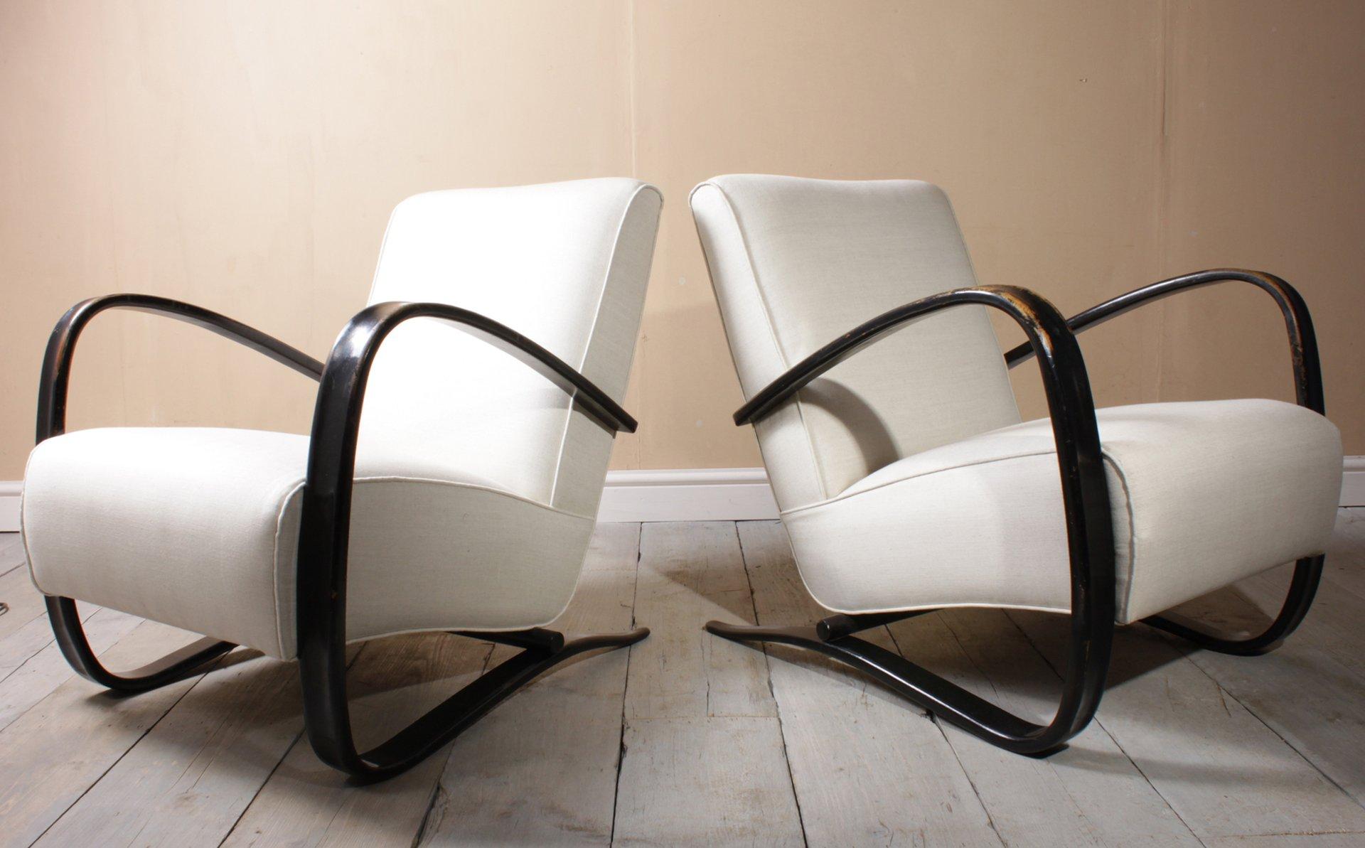 Vintage Modell H269 Sessel von Jind?ich Halabala, 1940er, 2er Set