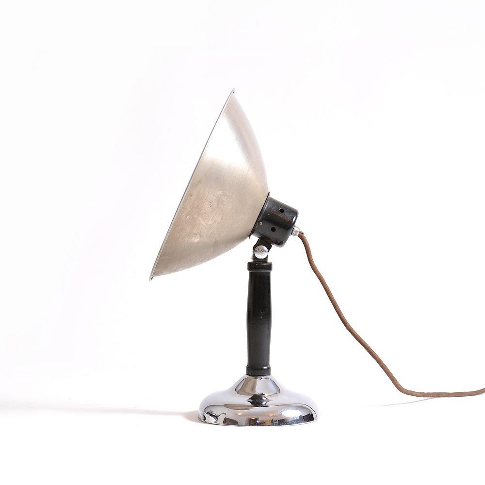 Foto-Tischlampe aus Chrom und Metall, 1930er