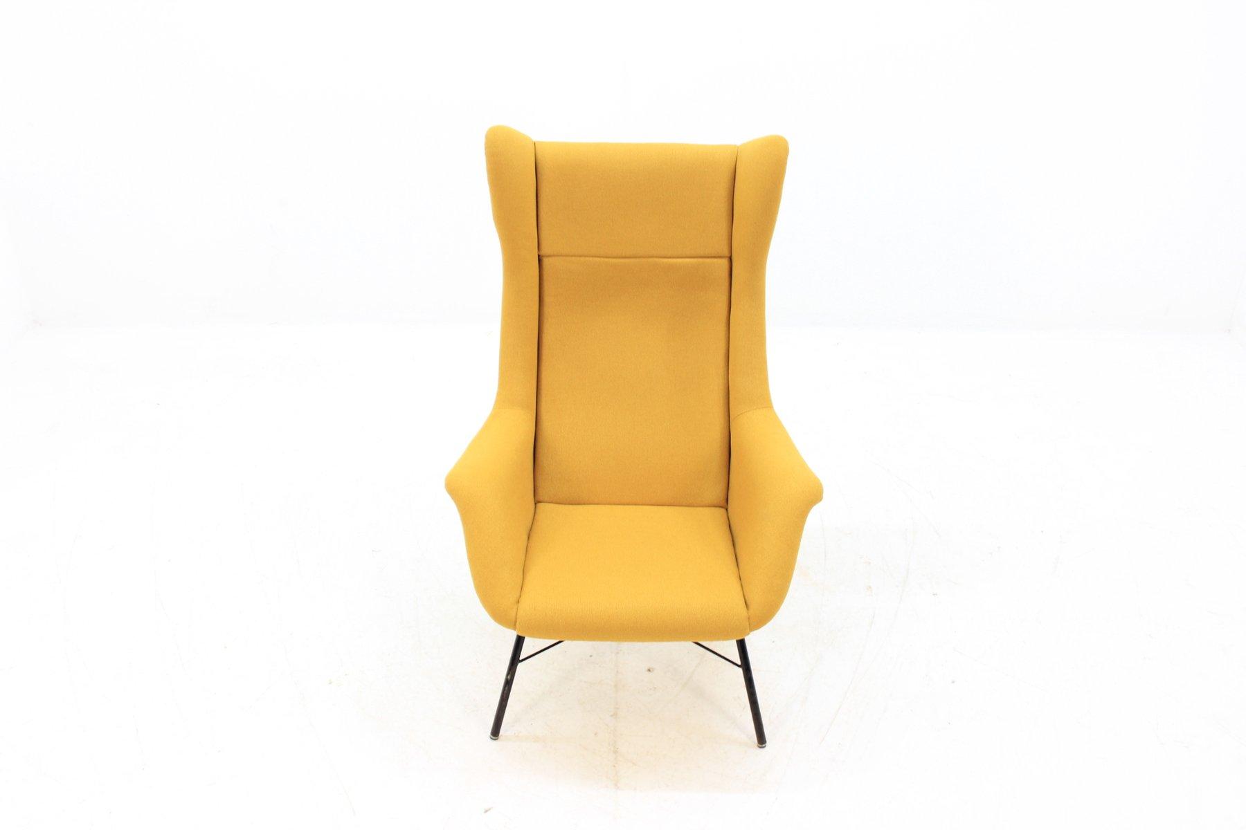 wingback armchair by miroslav navratil 1960s