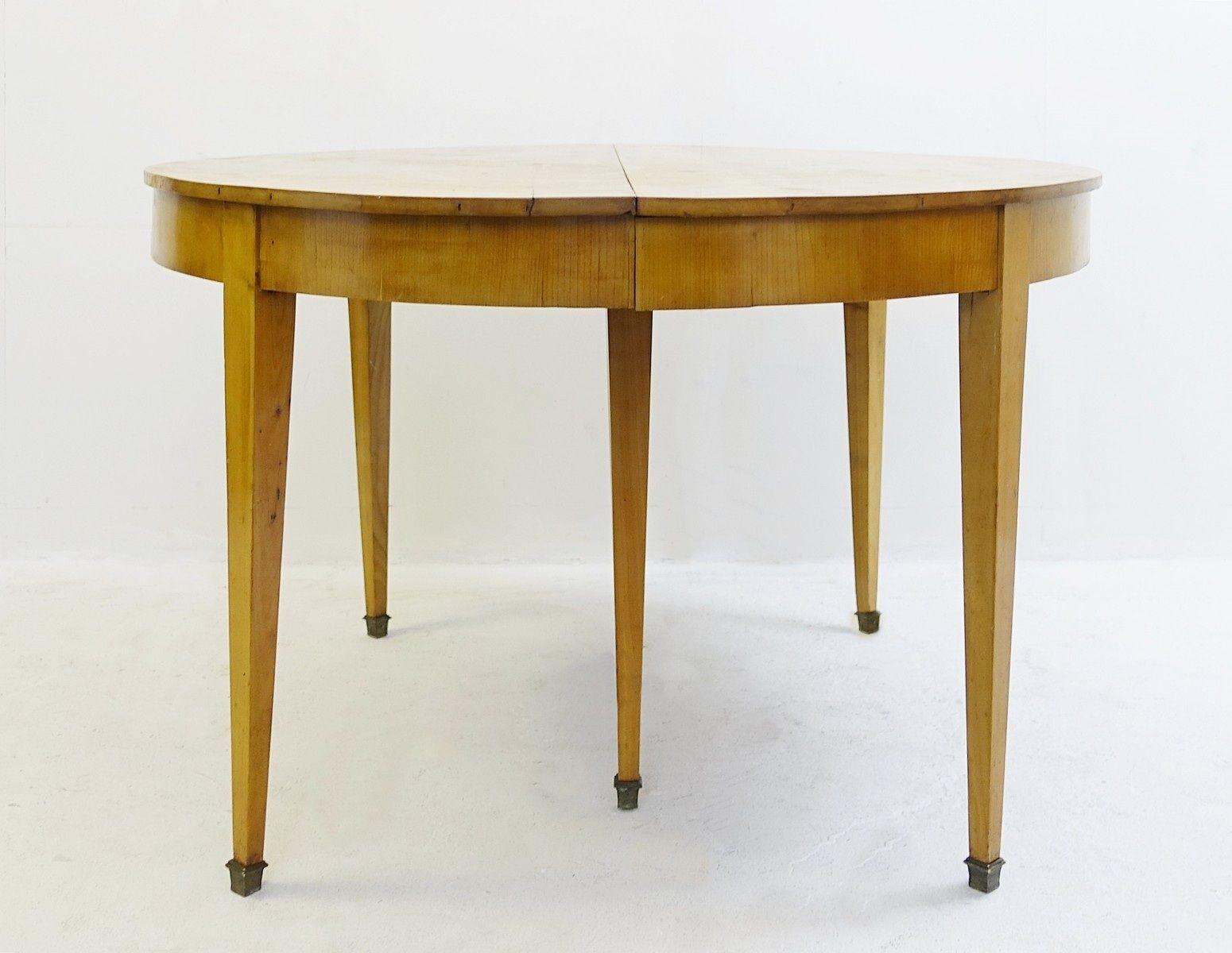 Tavoli Da Pranzo In Legno Allungabili : Tavolo da pranzo allungabile rotondo vintage in legno di ciliegio