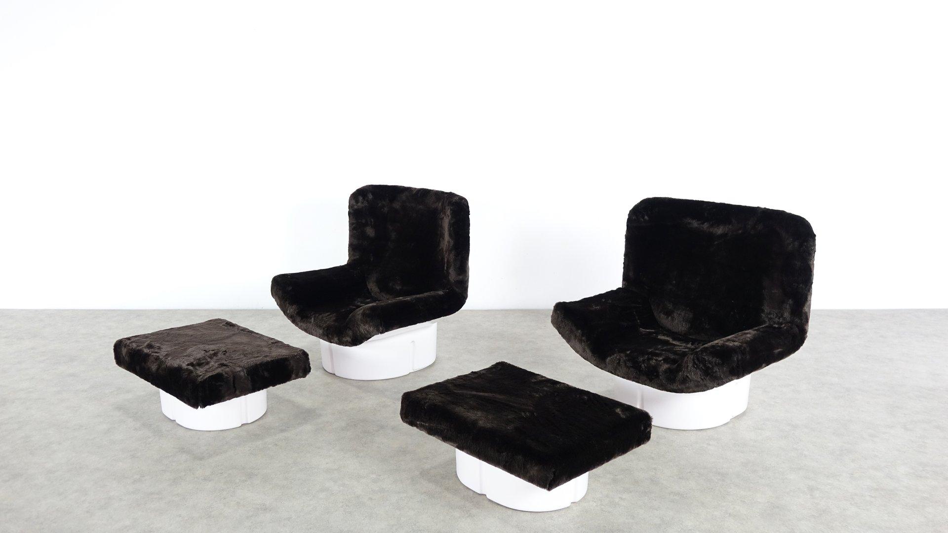 Modell IL Patrone Sessel & Fußhocker von T. Ammannati & G.P. Vitelli f...