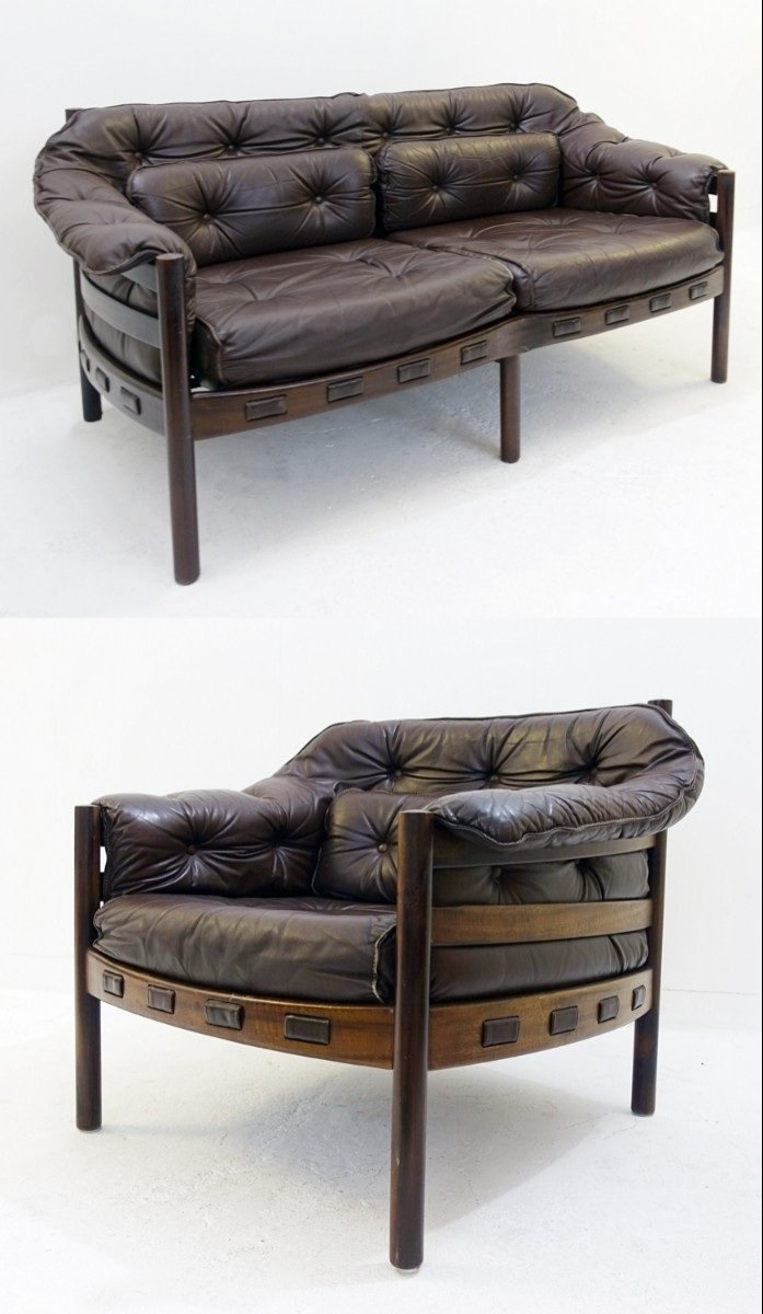 Sessel & Sofa von Arne Norell für Coga, 1960er
