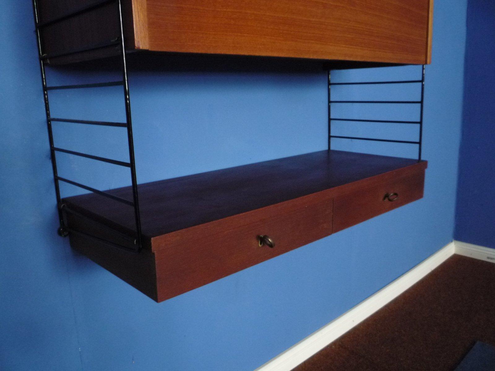 wandregal mit schreibtisch von kajsa nils strinning f r. Black Bedroom Furniture Sets. Home Design Ideas