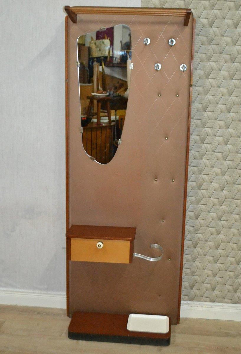 Vintage Garderobe Mit Spiegel 1961 Bei Pamono Kaufen