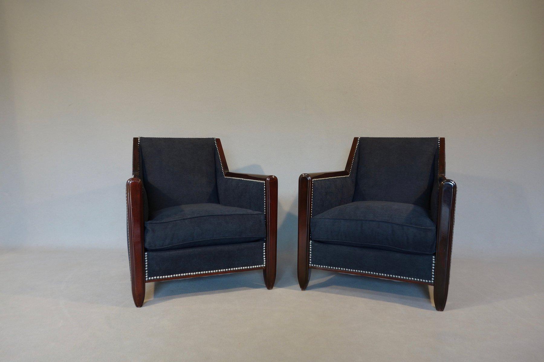 Art deco lounge chairs set of bei pamono kaufen