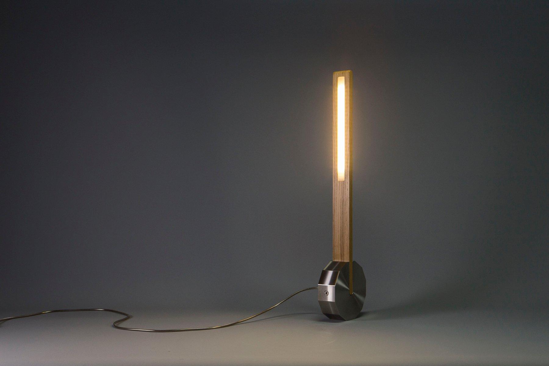 Killay Kinetic Lampe aus Edelstahl & Eiche von Singular Design