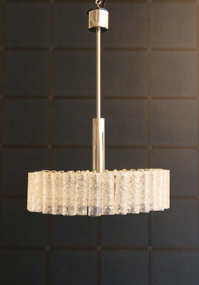 Kronleuchter aus Eisglas von Doria Leuchten, 1960er