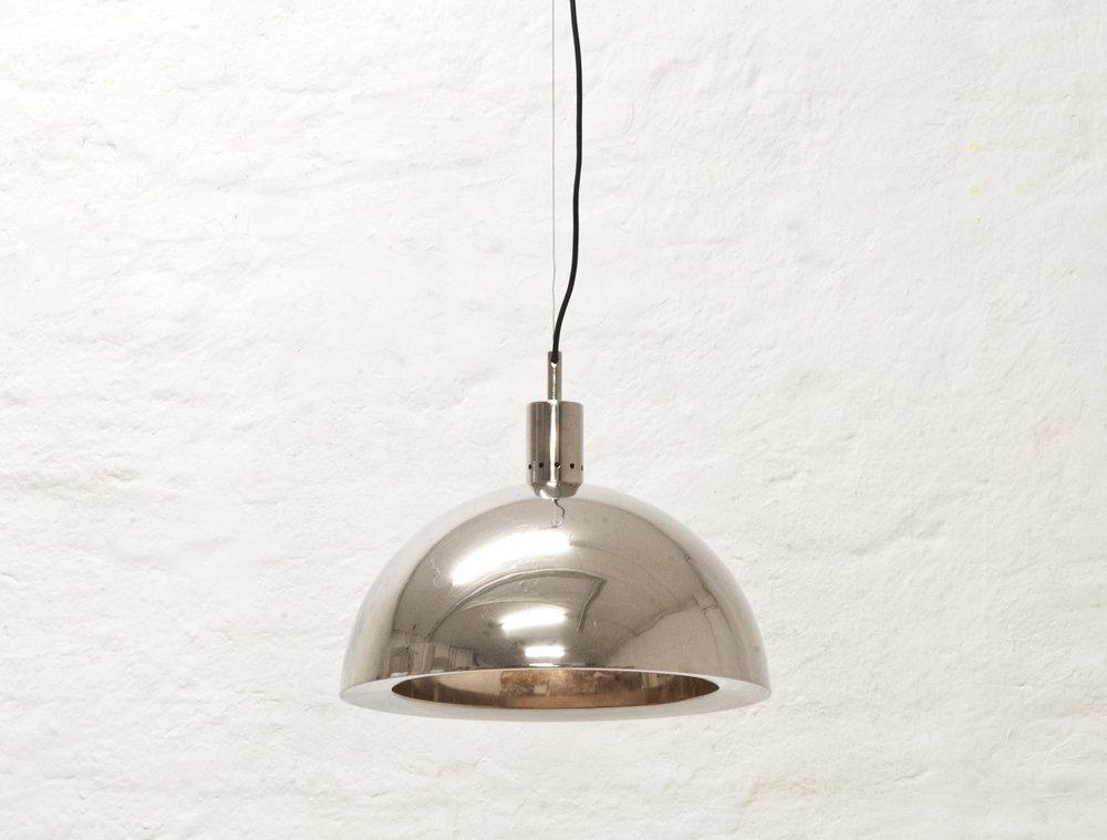 Italienische Deckenlampe aus Nickel, 1960er