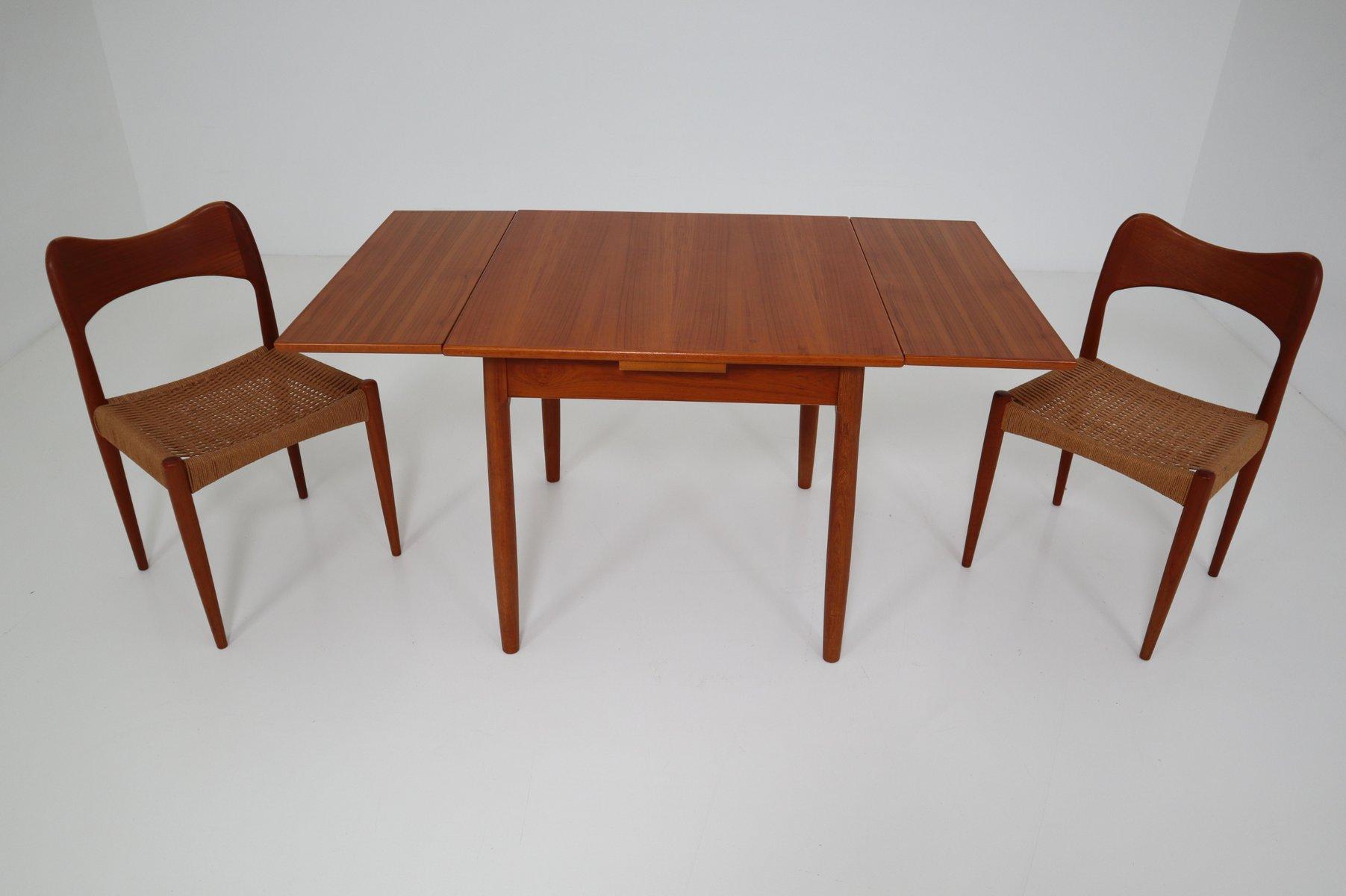 tisch und 2 st hle von niels o m ller f r j l m llers 1960 bei pamono kaufen. Black Bedroom Furniture Sets. Home Design Ideas