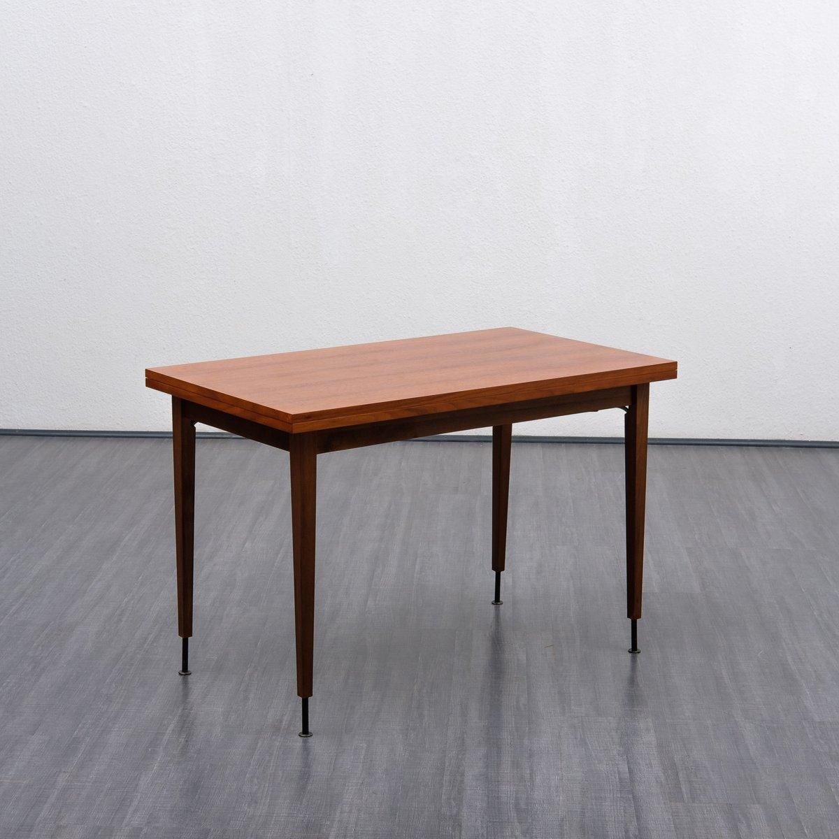 Anpassbarer Esstisch aus Nussholz, 1960er