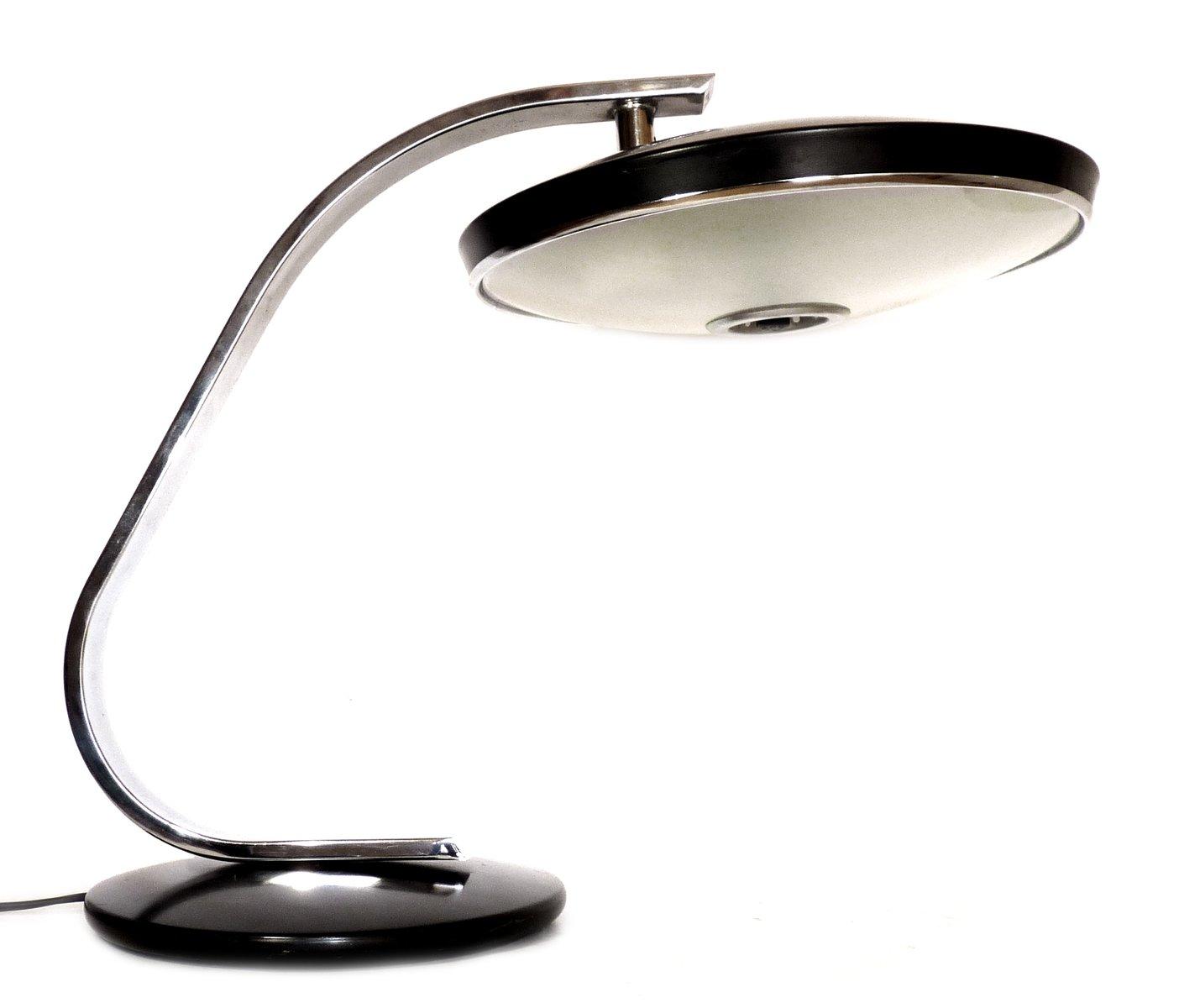 Vintage 520C Schreibtischlampe in Schwarz von Fase