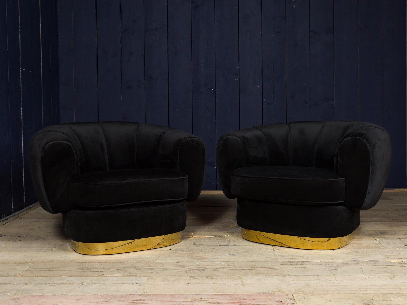 Vintage velvet club chair