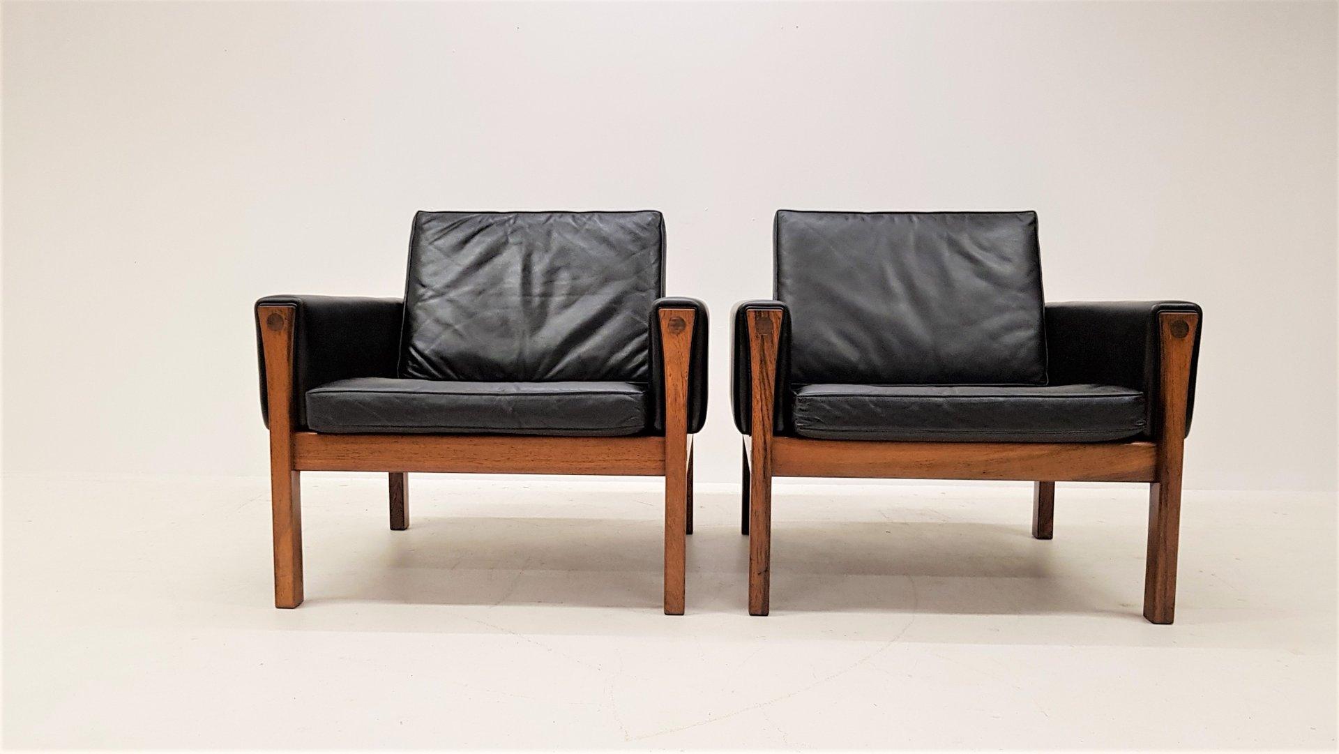 Brasilianische AP 62 Sessel aus Palisander & Leder von Hans J. Wegner ...