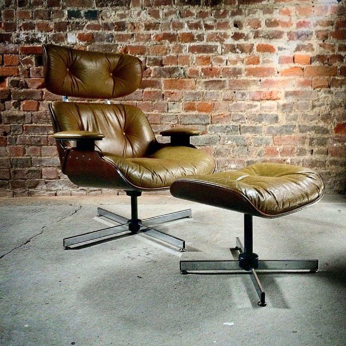 Lounge Chair and Ottoman from Plycraft, 1960s
