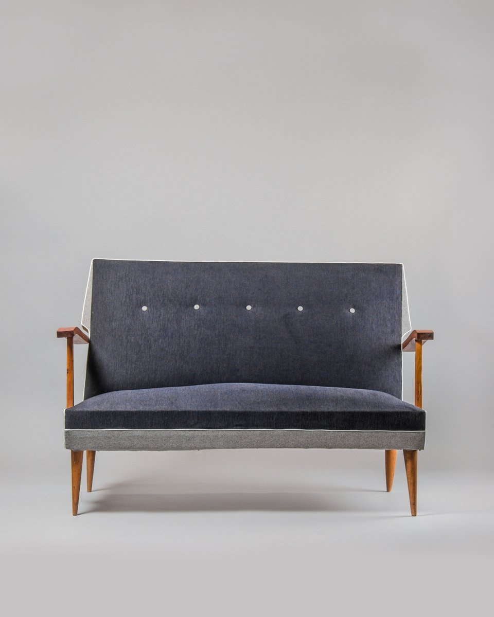 mid century sofa und 2 sessel bei pamono kaufen. Black Bedroom Furniture Sets. Home Design Ideas