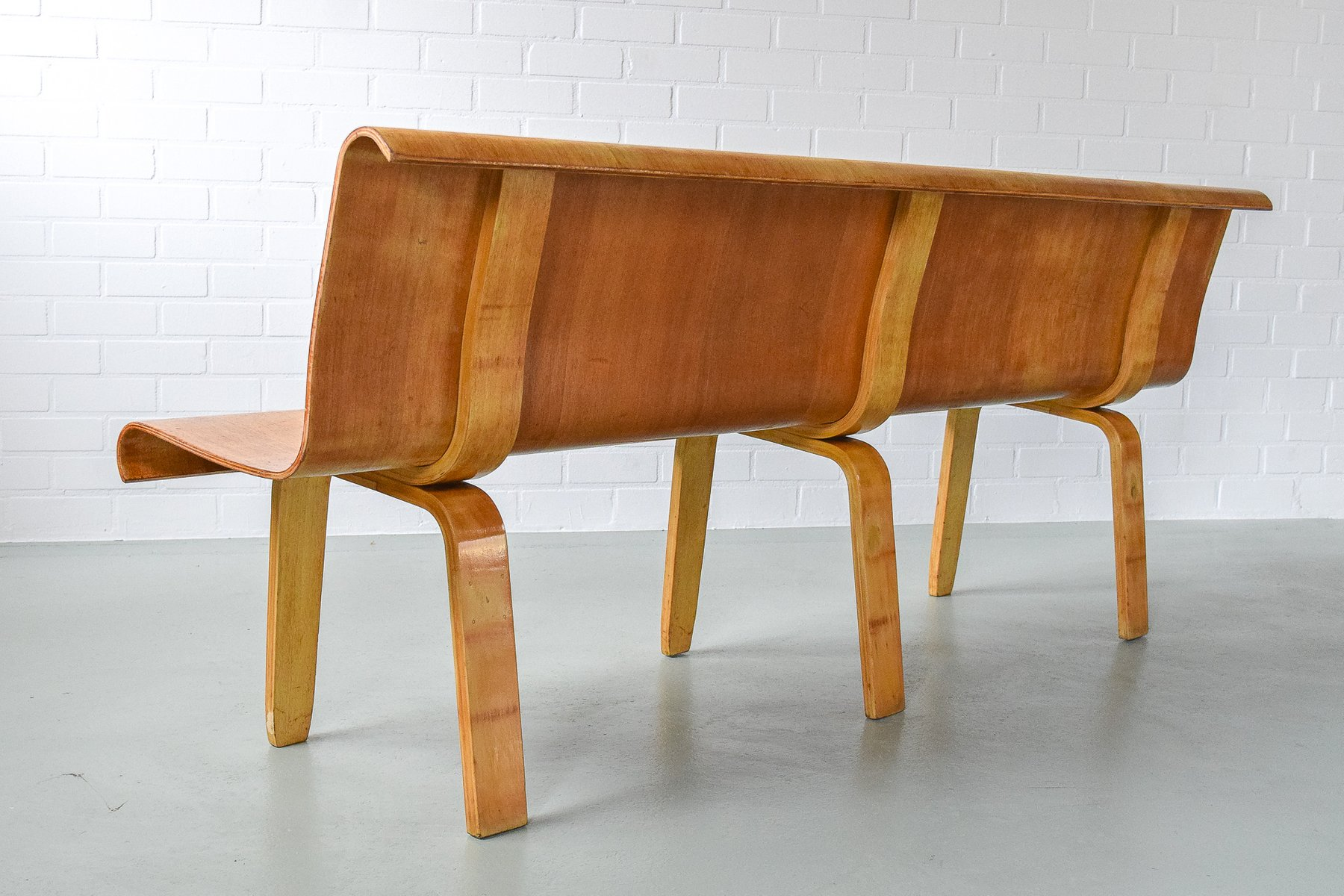 Plywood Bench 1950s bei Pamono kaufen