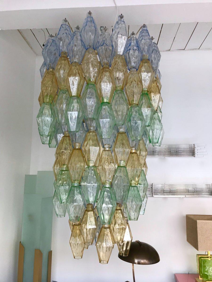Kronleuchter aus Muranoglas in Polyeder-Optik von Carlo Scarpa für Ven...